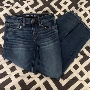 American Eagle Skinny Jeans Low Rise 8